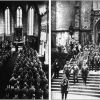 Nazi soldiers praying in church in germany