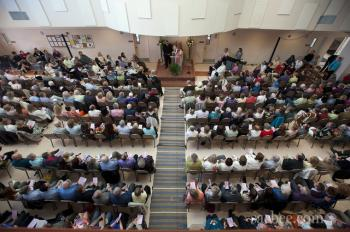 Easter service at salam mosque, sacramento